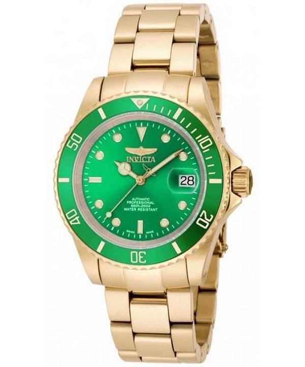 2571f68e7 Invicta Pro Diver Automatic Professional 200M Gold Tone 18506 Men's Watch