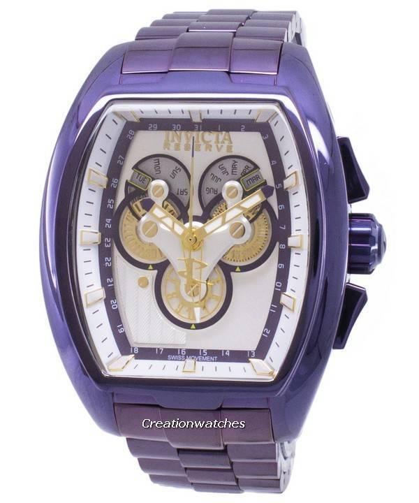 baratas entrega rápida muy baratas Reloj Invicta Reserve 27057 cronógrafo de cuarzo para hombre.