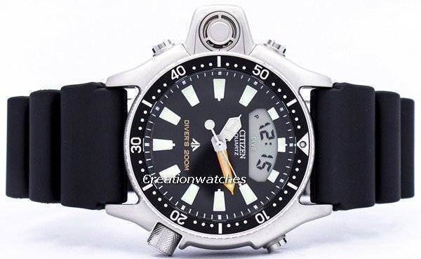 Citizen Aqualand Diver Promaster JP2000-08E JP2000 Depth Meter Men's Watch - Click Image to Close