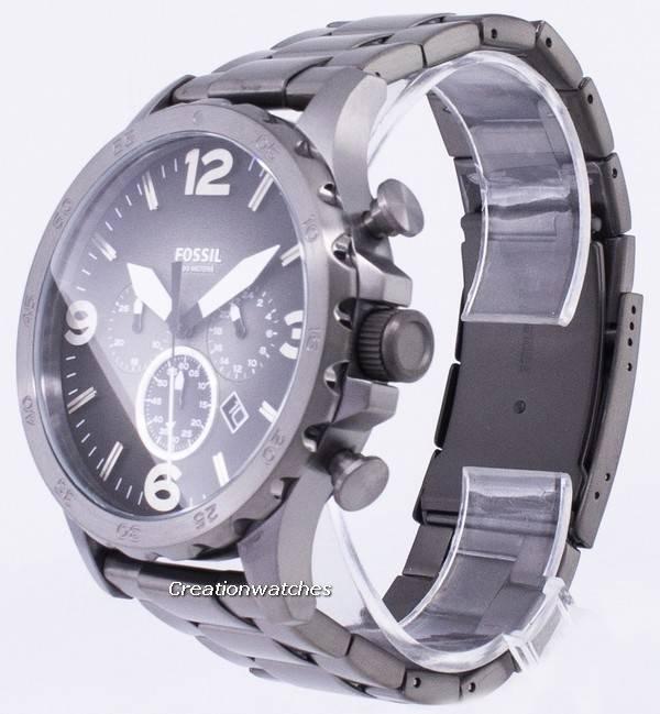 1224016f1c8e Fossil Nate Chronograph Smoke Grey Dial JR1437 Men s Watch