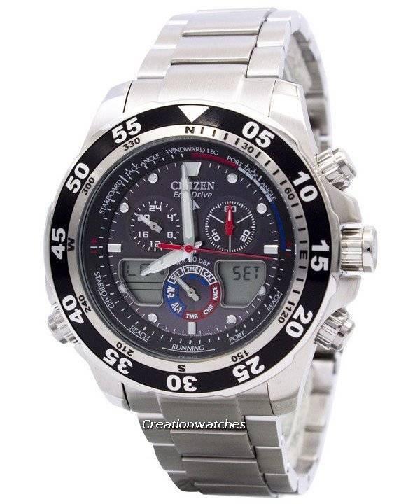 b41cd2920b1 Relógio Citizen Promaster Chronograph JR4045-57E JR4045 mundo tempo  masculino