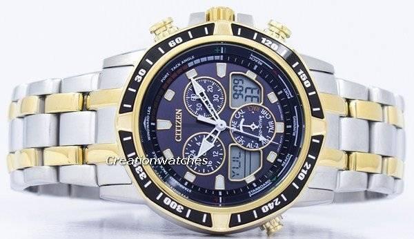 6ef975a4790 Relógio Citizen Eco-Drive Sailhawk cronógrafo Analógico Digital JR4054-56E  masculino