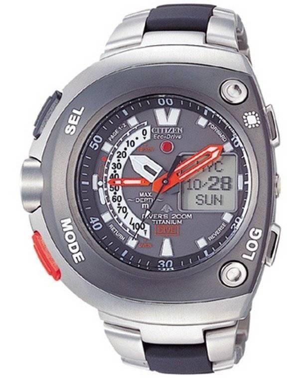 f4d6c255cdf5 Ciudadano promaster Aqualand Eco-Drive Titanio 200m reloj JV0051-60E  JV0051-60 JV0051