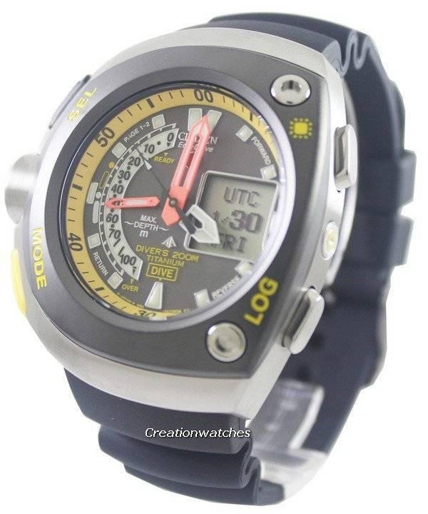 a96406fd4b8 Citizen Diver titânio Promaster Cyber Aqualand JV0055-00E pt