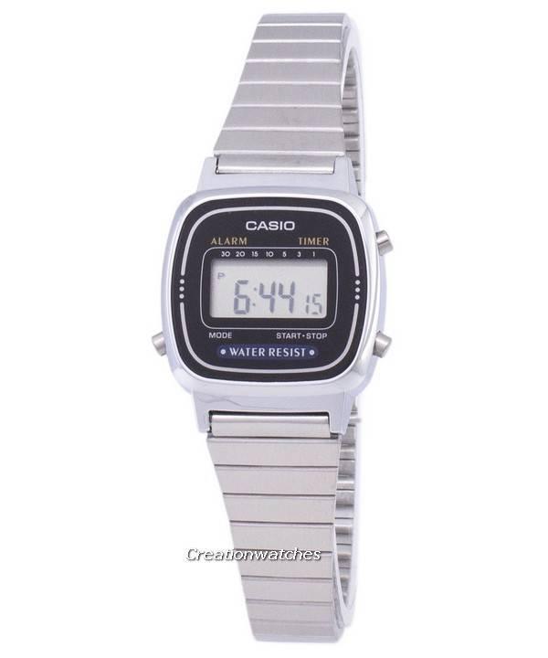Ρολόι ψηφιακή Casio κλασικό συναγερμός χρονόμετρο LA670WA-1DF LA670WA-1 των  γυναικών 0996b51970e