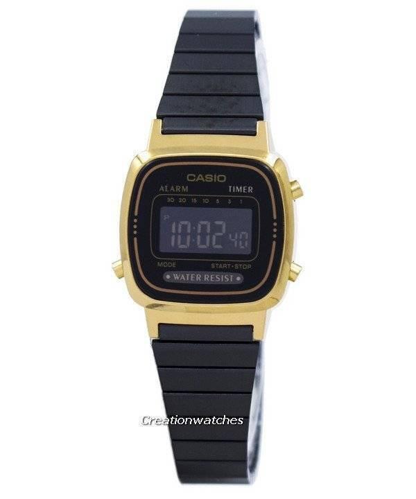 6266878bd98 Relógio Casio Vintage alarme Digital LA670WEGB-1B feminino pt