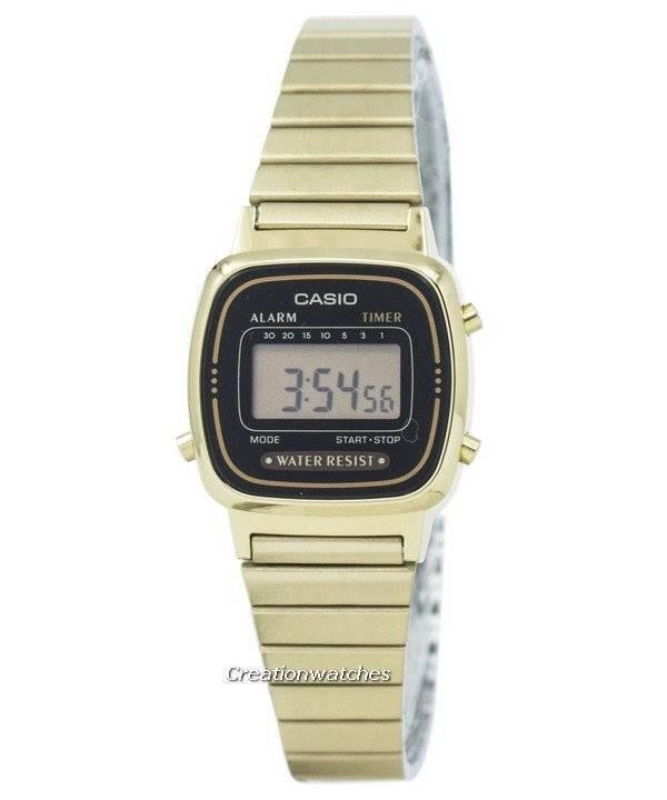 4291e6c152ed Casio digital acero inoxidable alarma temporizador LA670WGA-1DF LA670WGA-1  reloj de la mujer