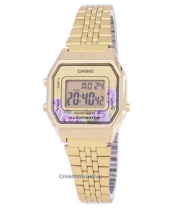cebcd834ed1 Relógio Casio Vintage iluminador quartzo Digital LA680WA - 4C feminino