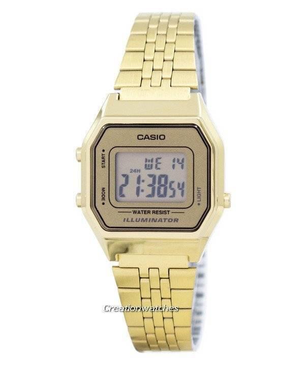 67672fb00 Casio Digital Quartz Stainless Steel Illuminator LA680WGA-9DF LA680WGA-9 Women's  Watch
