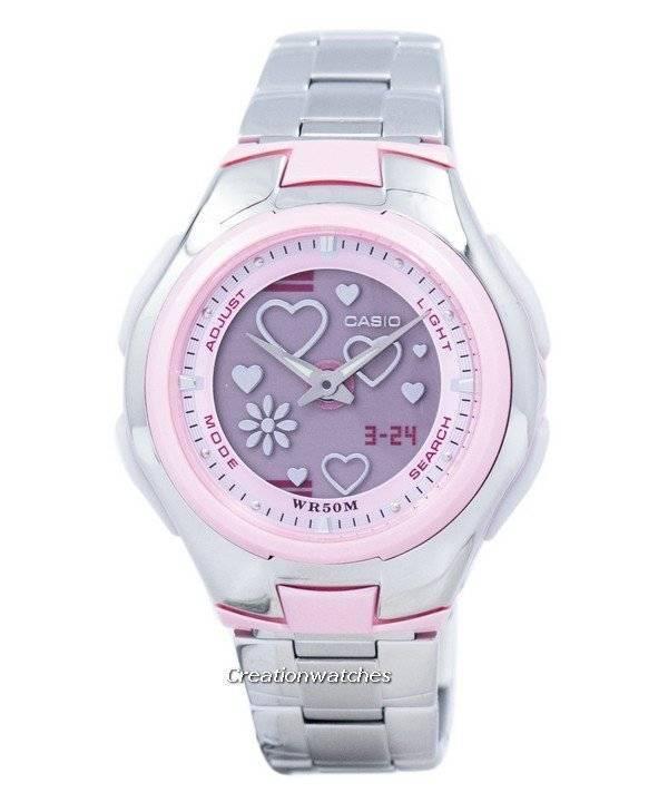 40583b4cd54b Casio Poptone World Time analógico digital LCF-10D-4AV LCF10D-4AV reloj para
