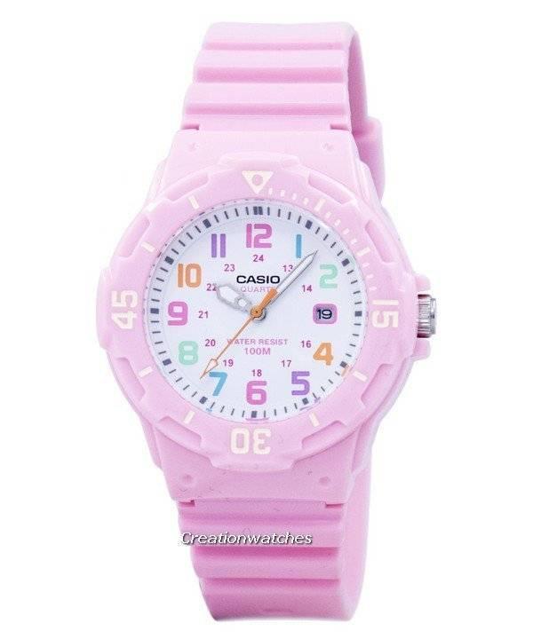 8f23c6db7d45 Correa de resina rosa Casio LRW-200H-4B2VDF LRW200H-4B2VDF reloj para mujer