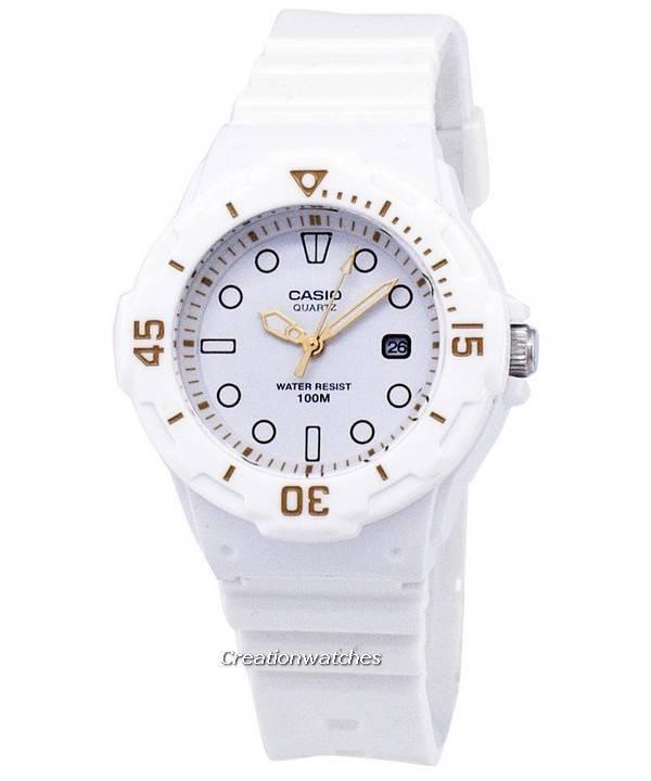 Casio Enticer clásico analógico Dial blanco LRW-200H-7E2VDF LRW-200H-7E2V 7e03c7f82f3