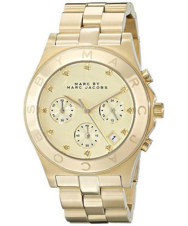 Relógio Marc By Marc Jacobs lâmina Chronograph Dial ouro MBM3101 feminino 0c1db04336