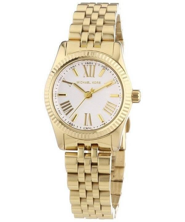 29dd425245084 Relógio Michael Kors Lexington Gold-Tone Dial Prata MK3229 feminino pt