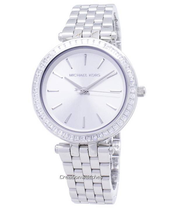 bdde041e54f8 Michael Kors Petite Darci plata dial acero inoxidable MK3364 reloj de la  mujer