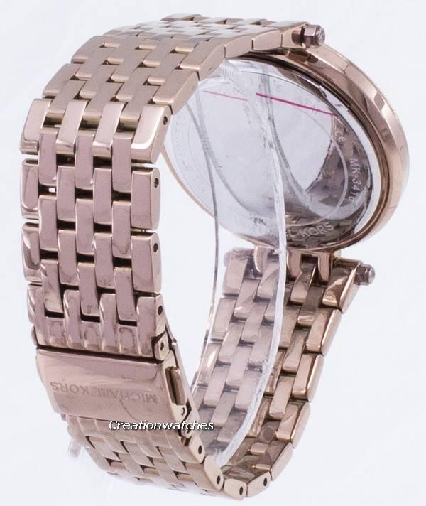 01f66b1d23768 Michael Kors Darci pavimentar o relógio de quartzo MK3416 feminino pt
