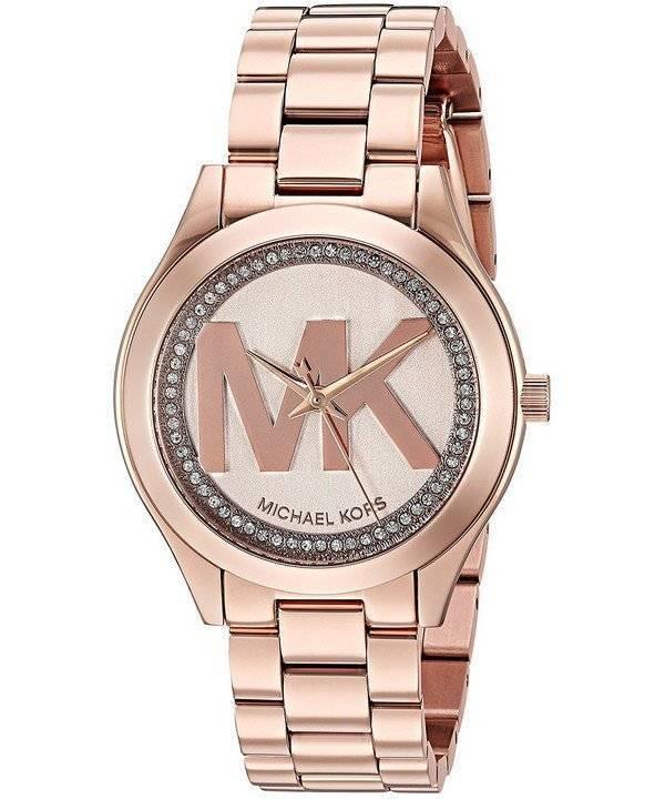 Relógio Michael Kors Runway Slim Mini quartzo diamante sotaque MK3549  feminino 08d9f67be0