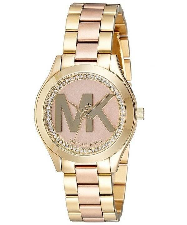 Relógio Michael Kors Runway Slim Mini quartzo diamante sotaque MK3650  feminino 5f1d8e36e4
