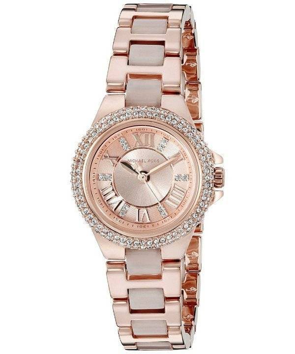 d7efb155df7a Michael Kors Petite Camille Rose Gold Tone Crystals MK4292 Women's Watch
