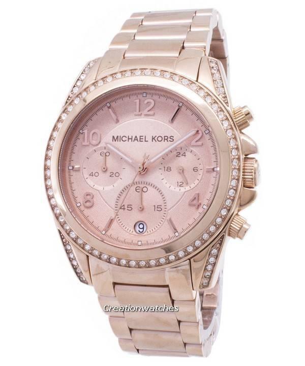 c5ccd5015 Michael Kors Rose gull belagt Blair glitter MK5263 kvinners klokke