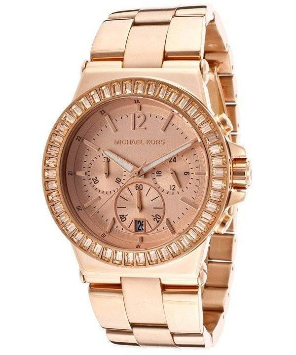 0d9801ba81dc8 Relógio Michael Kors Baguette Bezel Chronograph MK5412 das mulheres pt