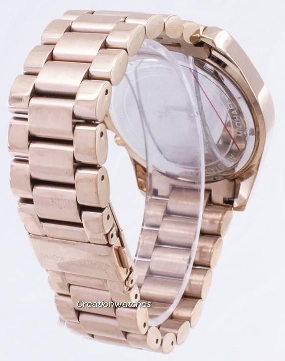 f601c19afdac9 Relógio Michael Kors Bradshaw Chronograph Rose Gold-Tom MK5503 feminino