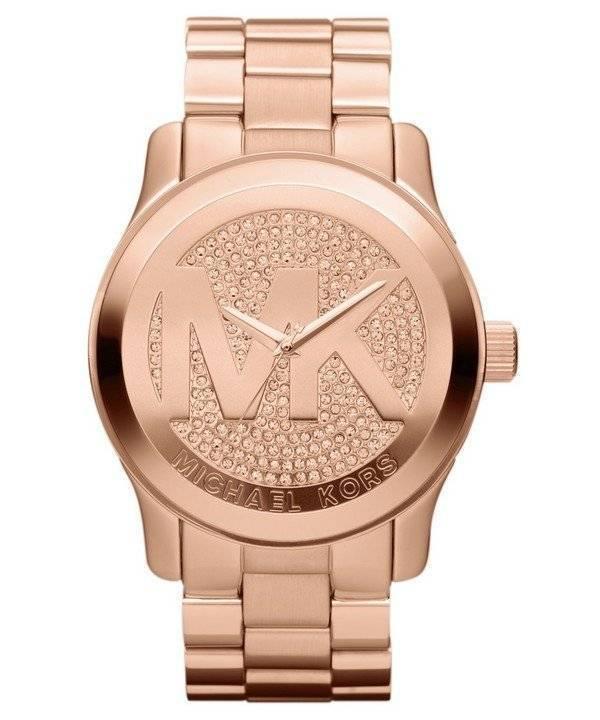 c9d86a49b037 Reloj Michael Kors pista femenina de chapado en oro rosa MK5661 es