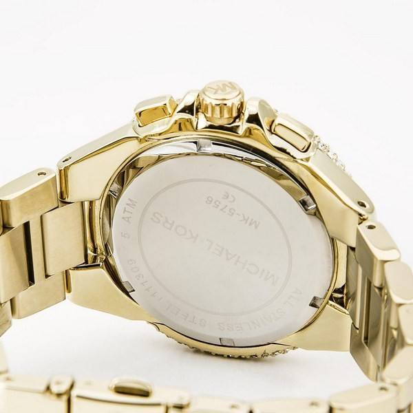 08a57b111743 Michael Kors Camille Chronograph Gold-Tone Crystals MK5756 Women s Watch