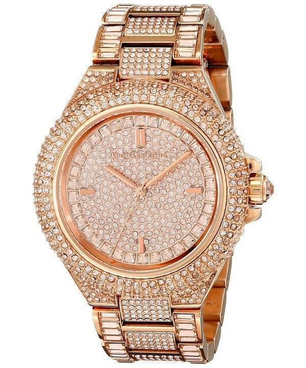 f520f10623ea Michael Kors Camille Rose Gold Crystals Pave Dial MK5862 Women's Watch