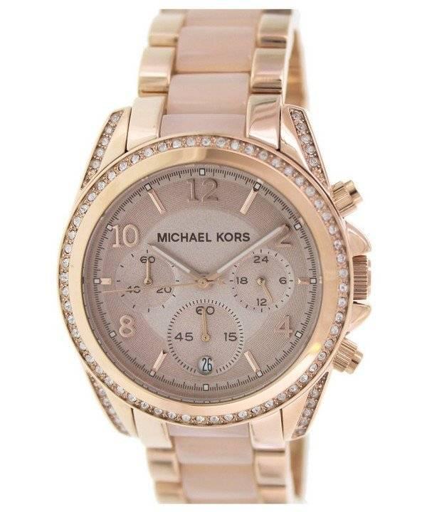 1329c564fa Orologio Michael Kors Blair cronografo cristalli MK5943 di donne it