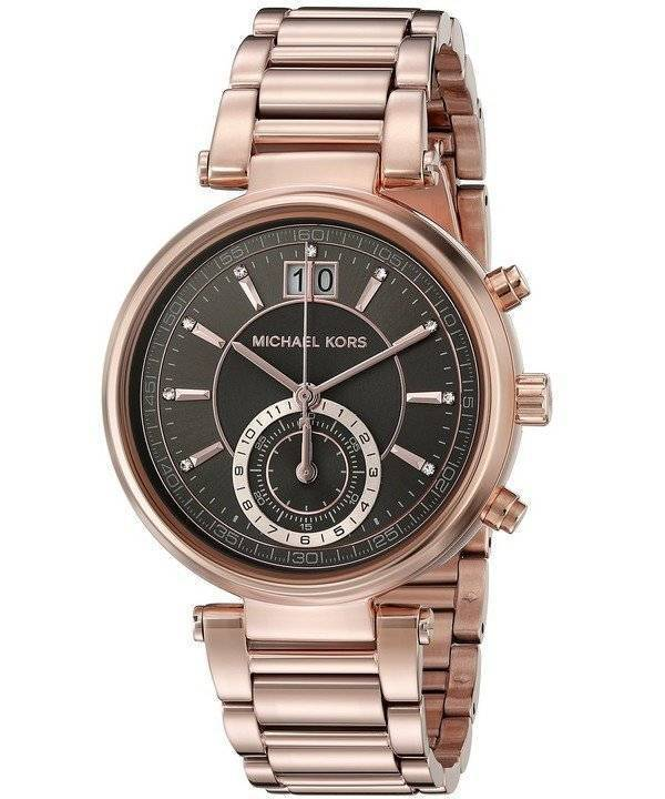 Relógio Michael Kors Sawyer cinza Dial MK6226 feminino pt 98cd13f71d