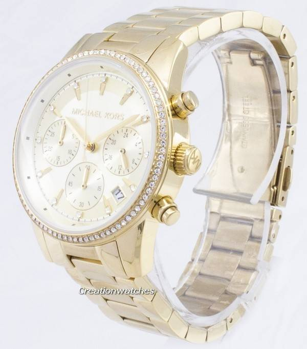 f2c2d088e Michael Kors Ritz Chronograph Quartz Diamond Accents MK6356 Women's Watch