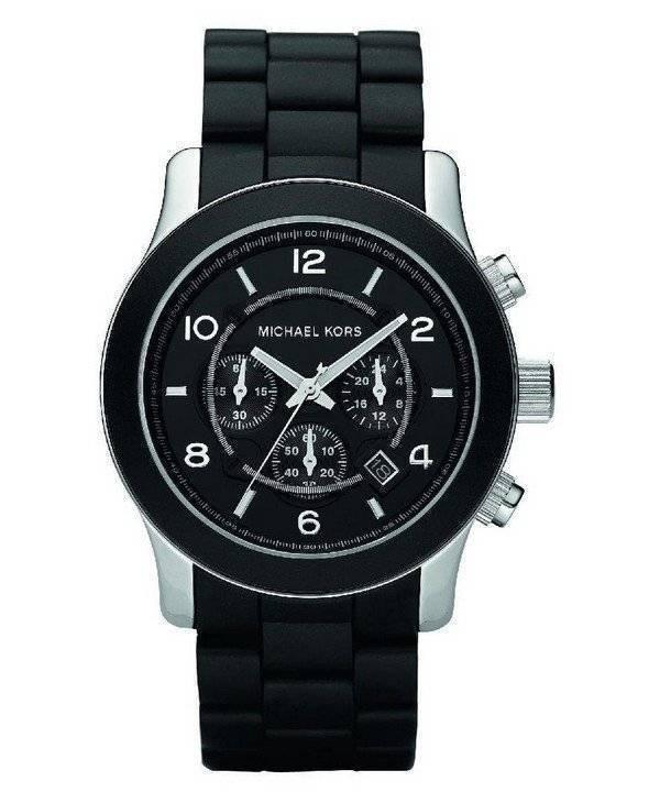 3374059da5c Relógio Michael Kors Runway Chronograph preto poliuretano MK8107 masculino