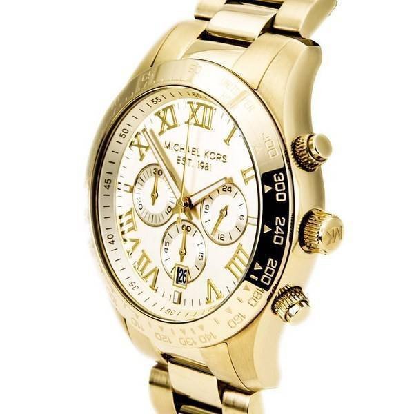 aafab2f95df0 Michael Kors Layton Chronograph Gold Tone MK8214 Men s Watch