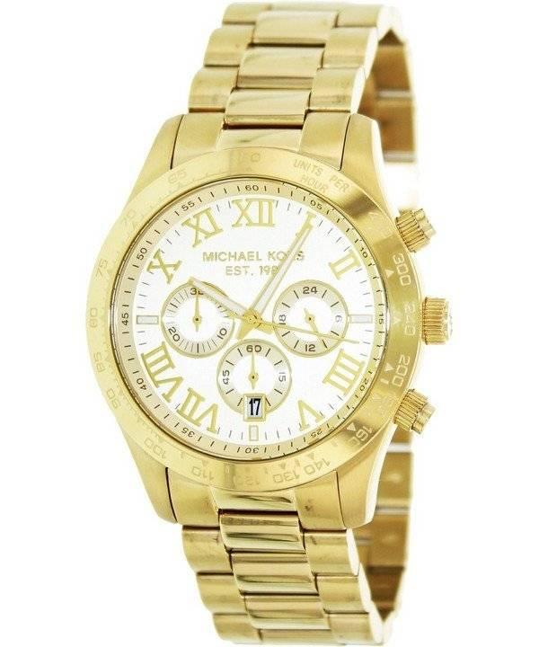c45afcab13 Michael Kors Layton cronografo tono oro MK8214 orologio uomo it