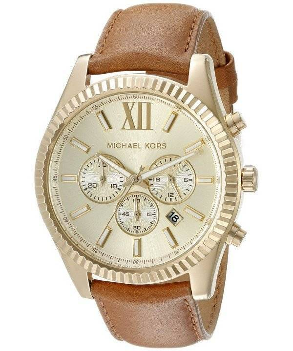 Michael Kors Lexington Chronograph Gold Dial MK8447 Men's Watch - Click Image to Close