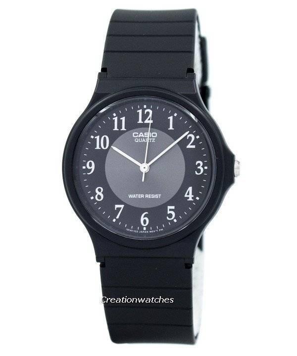 Casio clásico analógico de cuarzo negro resina MQ-24-1B3LDF Watch de ... 149f63f137e4