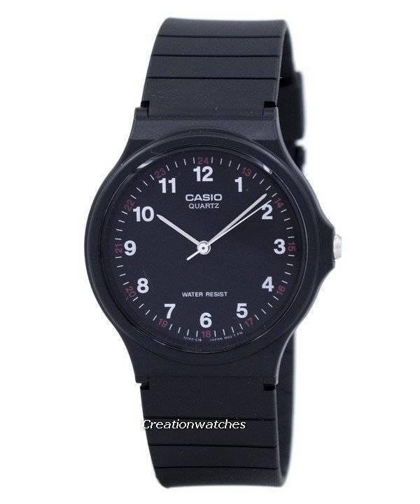 c49b1ca34 Casio Classic Analog Quartz Black Resin MQ-24-1BLDF MQ24-1BLDF Men's Watch