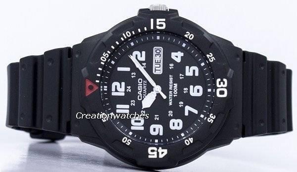 2434647638f0 Casio de cuarzo analógico 100M negro resina correa MRW-200H-1BVDF MRW-200H