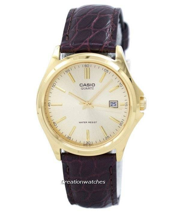 1374478187e Casio Quartz Analog Gold Dial MTP-1183Q-9ADF MTP-1183Q-9A Men s