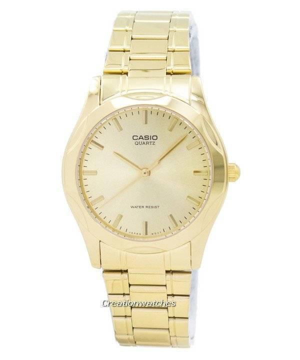 a5737ee87ec Casio Quartz Dourado analógico relógio masculino MTP-1275G-9A de MTP-1275G-
