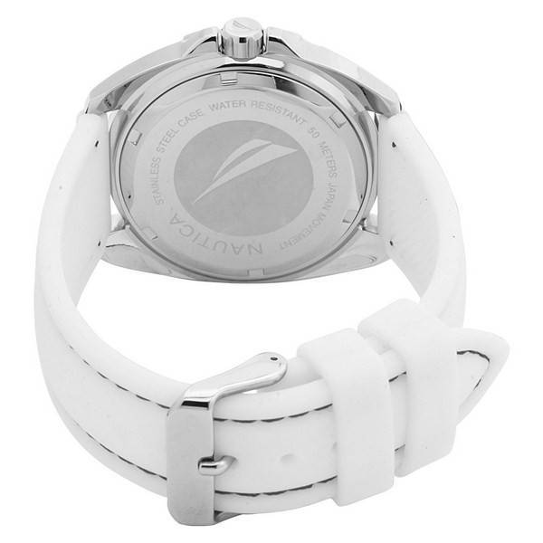 Nautica Sport Ring Multifunction N09907G White Box Set Watch - Click Image to Close