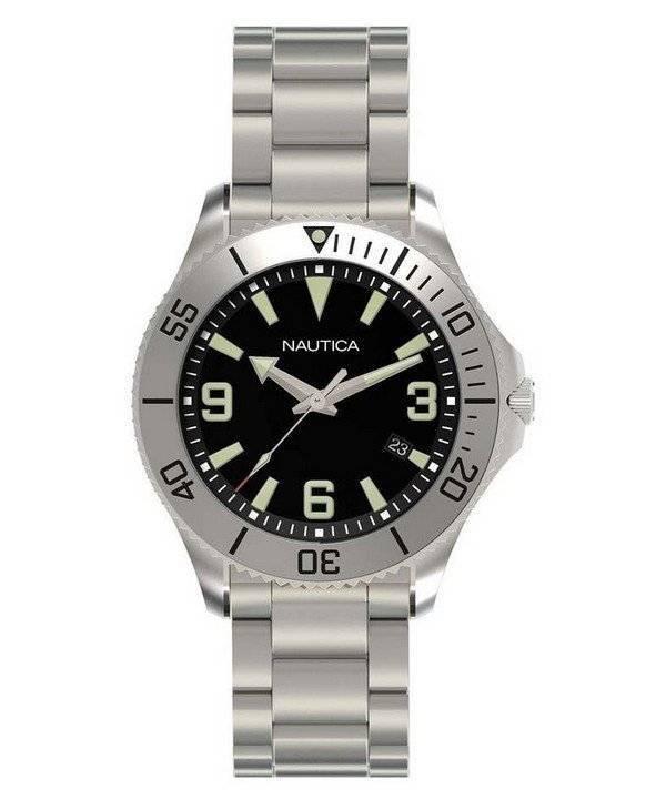 3f78dcb32a3 Relógio Nautica NAC 102 clássico N11575G analógico masculino pt
