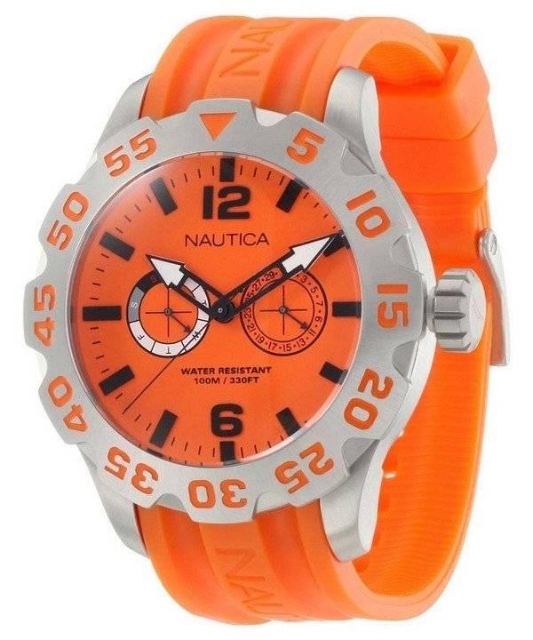 d7ac1364e98 Relógio Nautica BFD 100 laranja Dial N16606G masculino pt