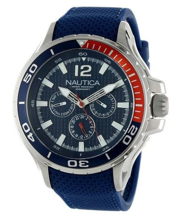 357198a9561 Relógio Nautica Multifunction resina azul correia N17613G masculino pt