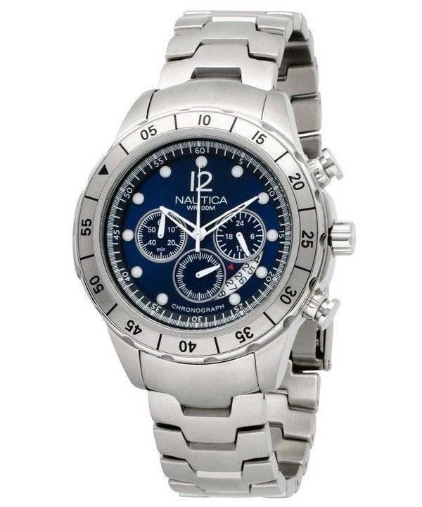 30854599e24 Relógio Nautica Chronograph Dial azul N19531G masculino pt