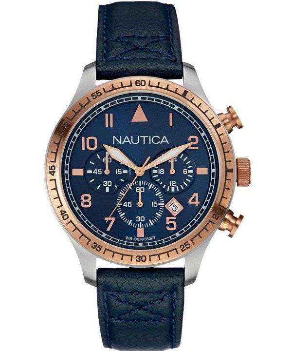 05a565b3044 Relógio Nautica esportes da Marinha Dial Chronograph NAI17500G masculino