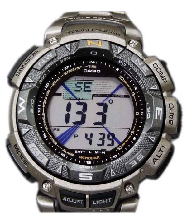 6e0378ea73b Casio Protrek PRG-240T-7 DR PRG-240T-7 triplo relógio Sensor ...