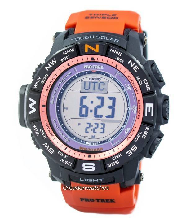 b8e6fedddcd Relógio de Casio Protrek atômica duro Solar triplo Sensor Digital PRW-3500Y  - 4D