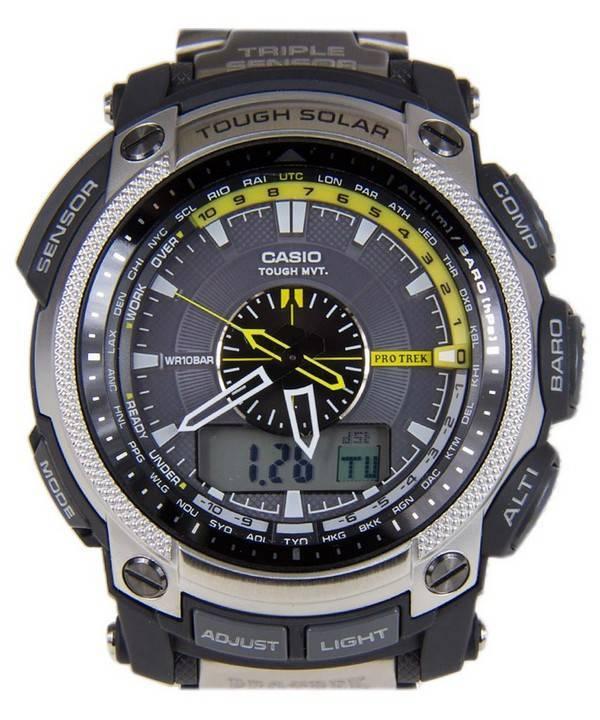 31475722c58 Relógio Casio Protrek Tough Solar PRW-5000T-7JF PRW-5000T MASC pt